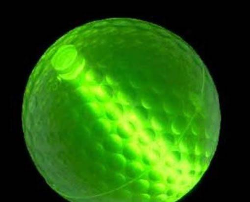 glow-stick golf ball